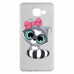 Чехол для Samsung A5 2016 Cute raccoon