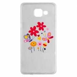 Чехол для Samsung A5 2016 Flowers and Butterflies