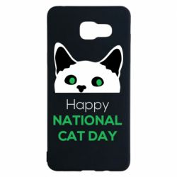 Чехол для Samsung A5 2016 Happy National Cat Day