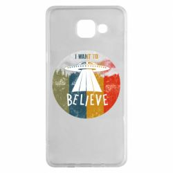 Чехол для Samsung A5 2016 I want to believe text