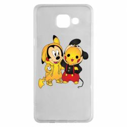 Чехол для Samsung A5 2016 Mickey and Pikachu