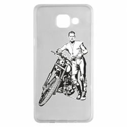 Чехол для Samsung A5 2016 Mickey Rourke and the motorcycle