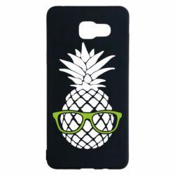 Чехол для Samsung A5 2016 Pineapple with glasses