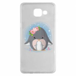 Чехол для Samsung A5 2016 Two cute penguins