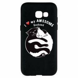 Чехол для Samsung A5 2017 Cats and love