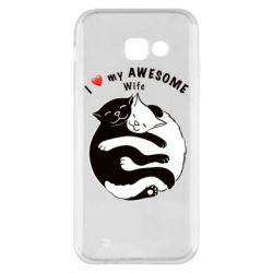 Чехол для Samsung A5 2017 Cats with a smile