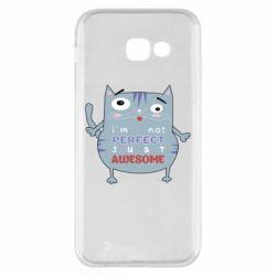 Чехол для Samsung A5 2017 Cute cat and text