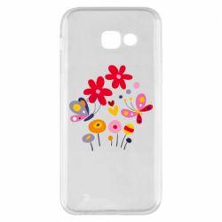 Чехол для Samsung A5 2017 Flowers and Butterflies