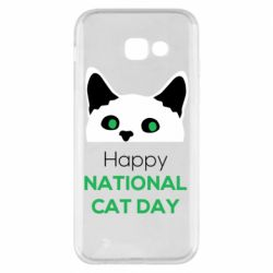 Чехол для Samsung A5 2017 Happy National Cat Day