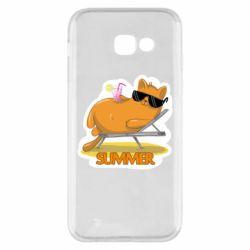 Чохол для Samsung A5 2017 Котик на пляжі