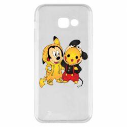 Чехол для Samsung A5 2017 Mickey and Pikachu