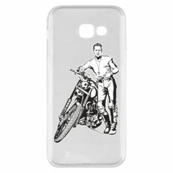 Чехол для Samsung A5 2017 Mickey Rourke and the motorcycle