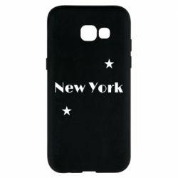Чехол для Samsung A5 2017 New York and stars