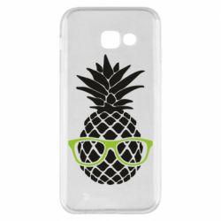 Чехол для Samsung A5 2017 Pineapple with glasses