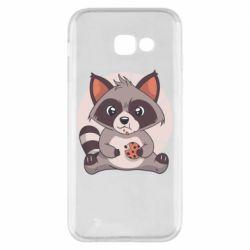 Чохол для Samsung A5 2017 Raccoon with cookies