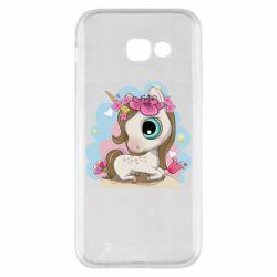 Чохол для Samsung A5 2017 Unicorn with flowers