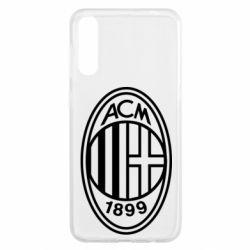 Чохол для Samsung A50 AC Milan logo