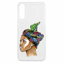 Чохол для Samsung A50 African girl in a color scarf