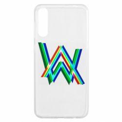 Чохол для Samsung A50 Alan Walker multicolored logo