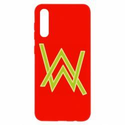 Чохол для Samsung A50 Alan Walker neon logo