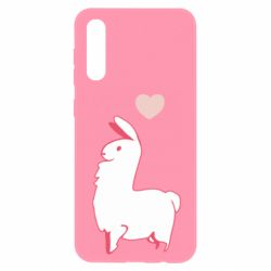 Чохол для Samsung A50 Alpaca with a heart