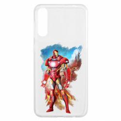 Чохол для Samsung A50 Avengers iron man drawing