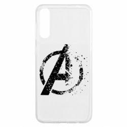 Чохол для Samsung A50 Avengers logotype destruction