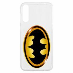 Чохол для Samsung A50 Batman logo Gold