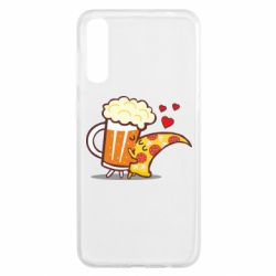 Чохол для Samsung A50 Beer and Pizza were kissed