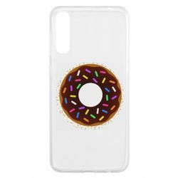 Чохол для Samsung A50 Brown donut on a background of patterns