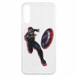 Чохол для Samsung A50 Captain america with red shadow