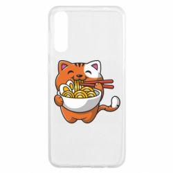 Чохол для Samsung A50 Cat and Ramen