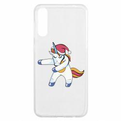 Чохол для Samsung A50 Christmas Unicorn