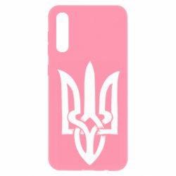 Чохол для Samsung A50 Coat of arms of Ukraine torn inside