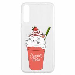 Чохол для Samsung A50 Cocktail cat and strawberry