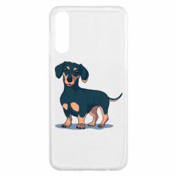 Чохол для Samsung A50 Cute dachshund