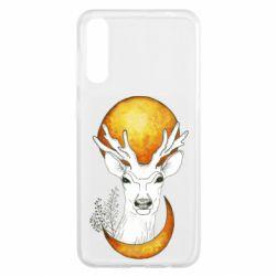 Чохол для Samsung A50 Deer and moon