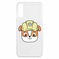 Чохол для Samsung A50 Dog in helmet