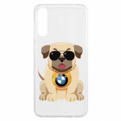 Чохол для Samsung A50 Dog with a collar BMW