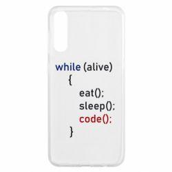 Чохол для Samsung A50 Eat, Sleep, Code