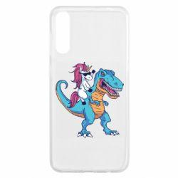 Чохол для Samsung A50 Єдиноріг і динозавр