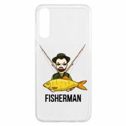 Чохол для Samsung A50 Fisherman and fish