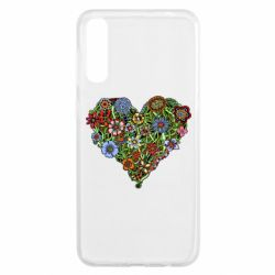 Чохол для Samsung A50 Flower heart