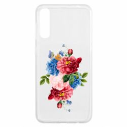 Чохол для Samsung A50 Flowers and butterfly