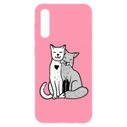 Чохол для Samsung A50 Fox and cat heart