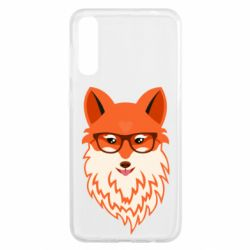 Чохол для Samsung A50 Fox with a mole in the form of a heart