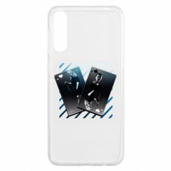 Чехол для Samsung A50 Gambling Cards The Witcher and Cyrilla