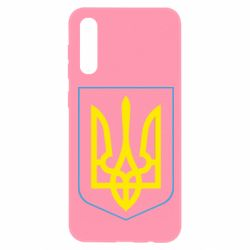 Чохол для Samsung A50 Герб України з рамкою