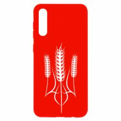 Чохол для Samsung A50 Герб України з колосками пшениці