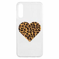 Чехол для Samsung A50 Heart with leopard hair